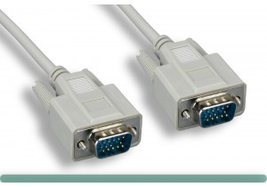 Standard VGA Cable M / M Beige Color