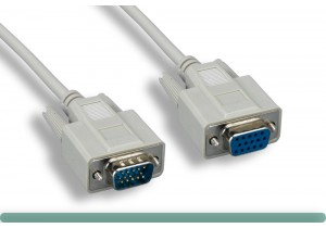 Standard VGA Cable M / F Beige Color