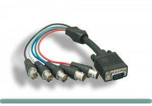 5 BNC Female High-Resolution VGA Monitor Cable