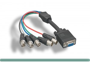 5 BNC High-Resolution VGA Monitor Cable