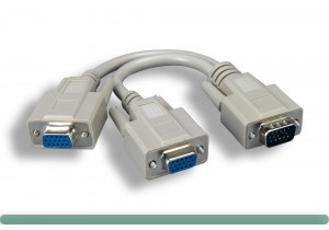 "Standard VGA ""Y"" Splitter Cable Adaptor"