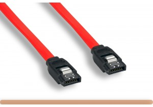 180 Degree 7 Pin w Latch Serial ATA Cable