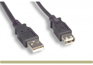 USB 2.0 Type A / A Extension Cable Black Color