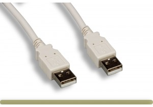 USB 2.0 A Male / A Male Cable Beige Color