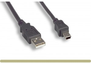USB 2.0 A Male / Mini 5 Pin Male Cable