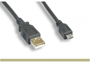 USB 2.0 A Male / Micro B Male Cable