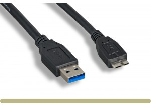 USB 3.0 A Male / Micro B Male Cable