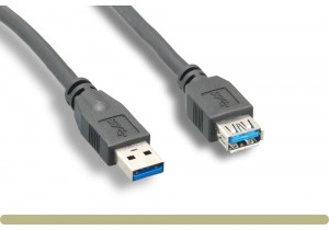 USB 3.0 Type A Extension Cable Black Color