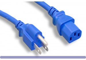 Blue Standard North American Power Cord