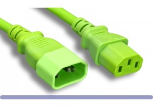 18 AWG. Green Color Power Extension