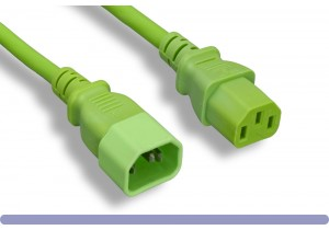 18 AWG Green Color Power Extension