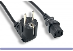 European Schuko Power Cord CEE 7/7 Right Angle To IEC-60320-C13