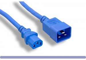 Blue Color C13 / C20 Universal Jumper Power Cord