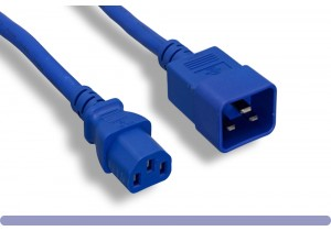 C20 to C13 Universal Jumper Power Cord Blue Color