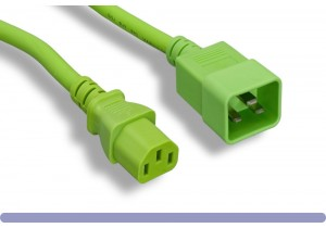 C20 to C13 Universal Jumper Power Cord Green Color