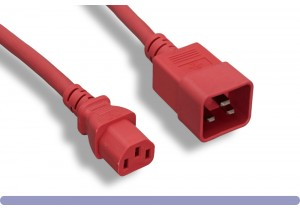 C20 to C13 Universal Jumper Power Cord Red Color
