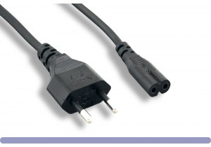 European Power Cord CEE 7/16 To IEC-60320-C7