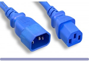 14 AWG Blue Color Power Extension