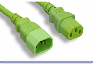 14 AWG Green Color Power Extension