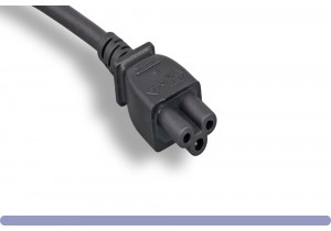 18 AWG 3 Prong Notebook Power Cord NEMA 5-15P to C5