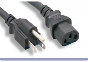 14 AWG Standard Power Cord NEMA 5-15P to C13