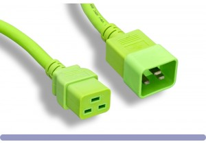 12 AWG Green Color C20 to C19 Universal Jumper Power Cord