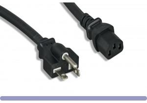 14 AWG AC Power Cord NEMA 5-20P to C13