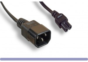 18 AWG C14 to C7 Power Adapter Cable