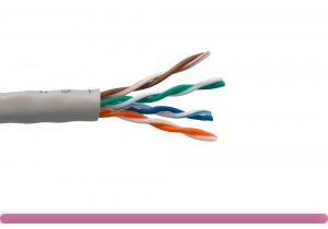 Cat. 5e UTP Solid Ethernet Bulk Cable 350MHz Gray