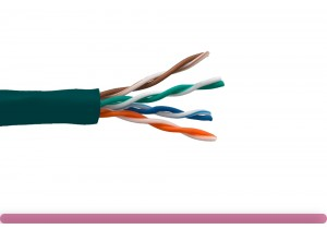 Cat. 5e UTP Stranded Ethernet Bulk Cable 350MHz Green