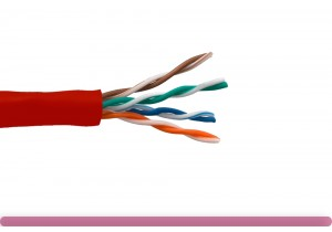 Cat. 5e UTP Solid Ethernet Bulk Cable 350MHz Red