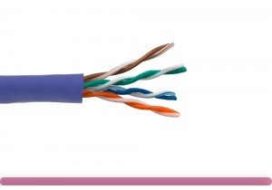 Cat. 5e UTP Solid Ethernet Bulk Cable 350MHz Purple