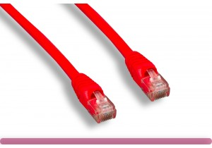 Red Color Cross Over Cat 6 UTP Patch Cable