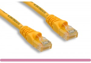 Yellow Color Cat 5e UTP Patch Cable