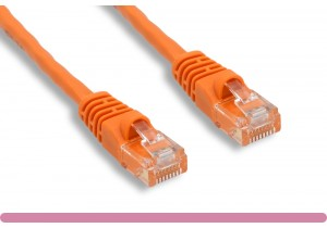 Orange Color Cross Over Cat 6 UTP Patch Cable