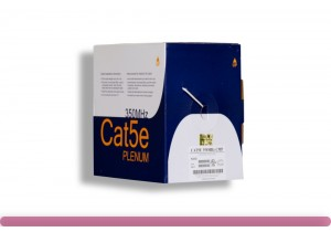 Cat. 5e Plenum Solid White Ethernet Bulk Cable 350MHZ