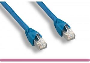 Blue Color Cat 6a 10G STP Patch Cable