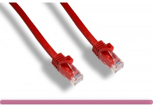 Red Color Cat 6a UTP Patch Cable