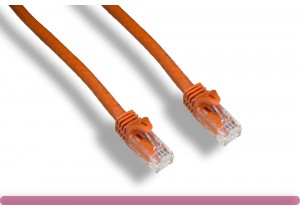 Orange Color Cat 6a UTP Patch Cable