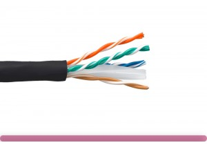 Cat. 6 UTP Stranded Ethernet Bulk Cable 550MHz Black