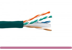 Cat. 6 UTP Stranded Ethernet Bulk Cable 550MHz Green