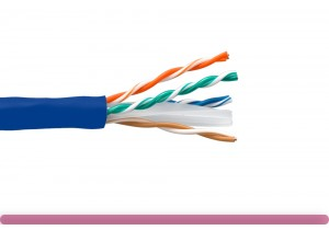 Cat. 6 UTP Stranded Ethernet Bulk Cable 550MHz Blue