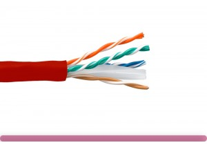 Cat. 6 UTP Stranded Ethernet Bulk Cable 550MHz Red