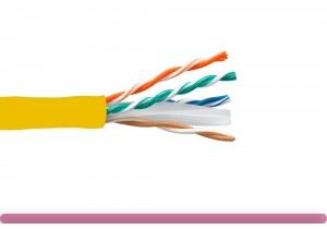 Cat. 6 UTP Stranded Ethernet Bulk Cable 550MHz Yellow
