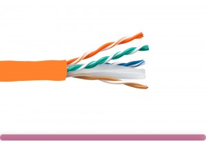 Cat. 6 CMR UTP Solid Ethernet Bulk Cable 550MHz Orange