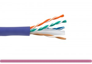 Cat. 6 UTP Stranded Ethernet Bulk Cable 550MHz Purple