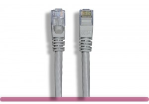 Gray Color Cross Over Cat 6 UTP Patch Cable