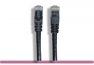 Black Color Cat 6 UTP Patch Cable