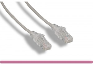 Gray Slim Cat 6a UTP Patch Cable