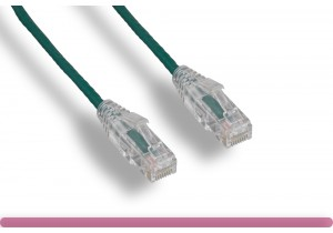GREEN Slim Cat 6 UTP Patch Cable
